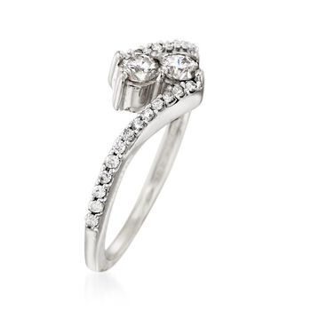 .50 ct. t.w. Diamond Two-Stone Ring in 14kt White Gold, , default