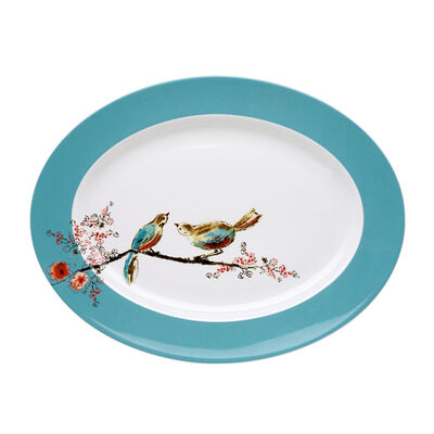 "Lenox ""Chirp"" Large Oval Serving Platter, , default"