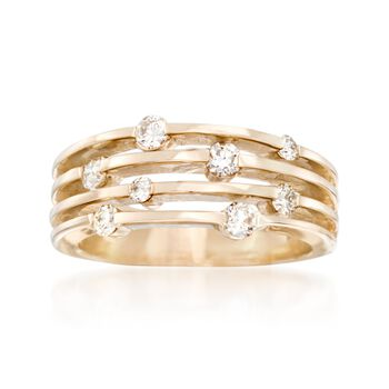 .50 ct. t.w. Diamond Scattered Multi-Row Ring in 14kt Yellow Gold, , default