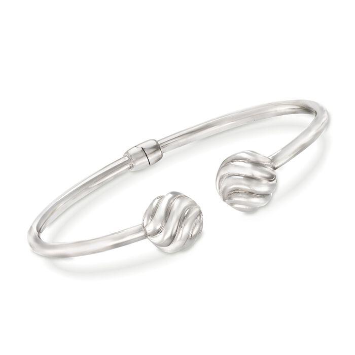 """Sterling Silver Bead Cuff Bracelet. 7.5"""", , default"""