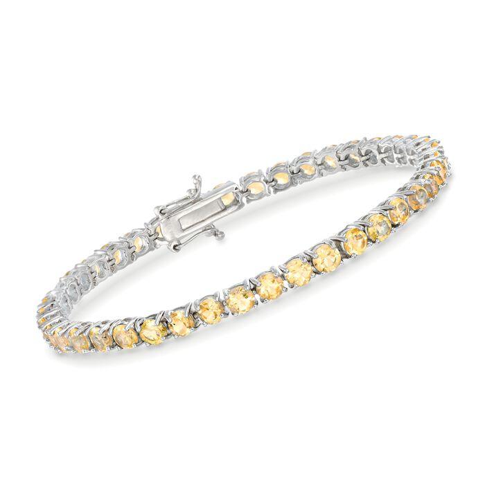 "8.25 ct. t.w. Citrine Tennis Bracelet in Sterling Silver. 7"", , default"