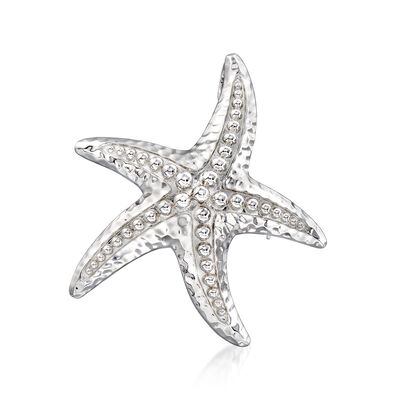 Sterling Silver Starfish Pin/Pendant, , default