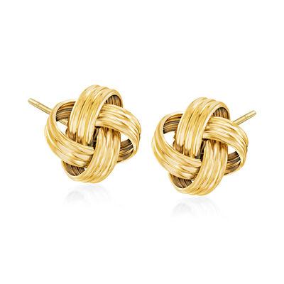 Italian 18kt Gold Over Sterling Love Knot Stud Earrings