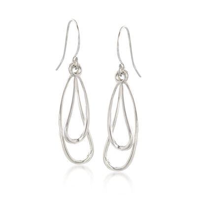 "Zina Sterling Silver ""Classic Zina"" Wire Drip Drop Earrings"