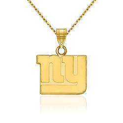 "14kt Yellow Gold NFL New York Giants Pendant Necklace. 18"", , default"