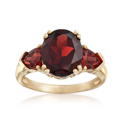 5.20 ct. t.w. Garnet Ring in 14kt Yellow Gold, , default