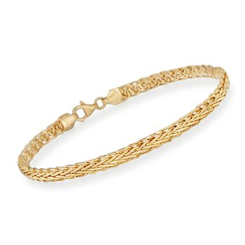 "14kt Yellow Gold Braided Bracelet. 7.5"", , default"