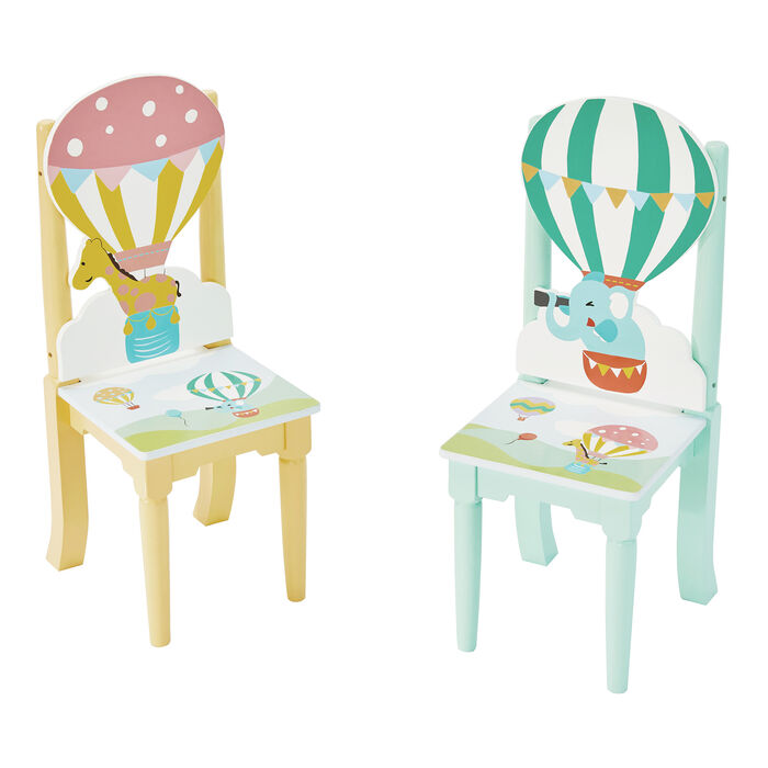 Child's Hot Air Balloons 3-pc. Wooden Set: Table and 2 Chairs