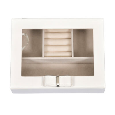 """Mele & Co. """"Dixie"""" White Faux Leather Travel Jewelry Box, , default"""