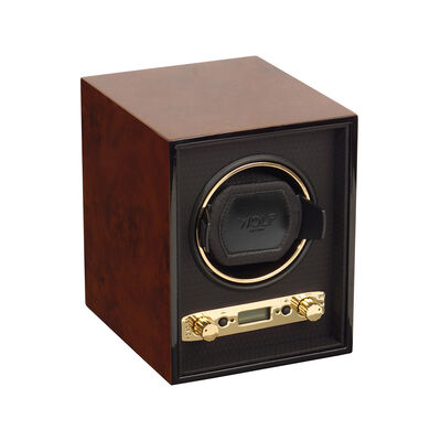 "Wolf ""Meridian"" Burlwood Wood Single Watch Winder , , default"