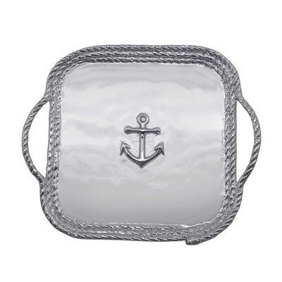 "Mariposa ""High Seas"" Medium Anchor Relief Rope Platter, , default"