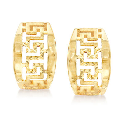 14kt Yellow Gold Greek Key Earrings