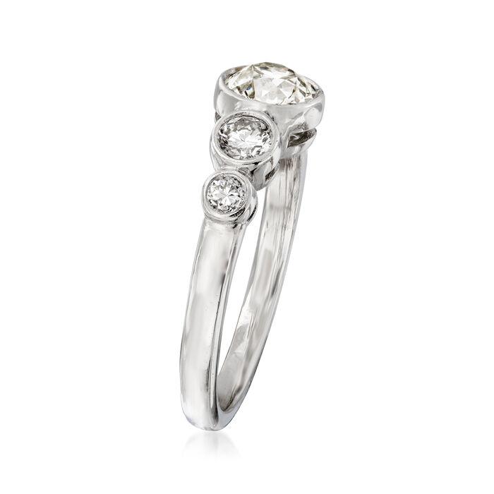 C. 2000 Vintage 1.40 ct. t.w. Diamond Ring in Platinum