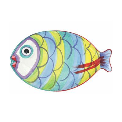 """Vietri """"Pesci Colorati"""" Figural Fish Platter from Italy"""