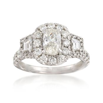 Henri Daussi 1.80 ct. t.w. Certified Diamond Engagement Ring in 18kt White Gold, , default