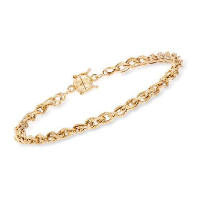 14kt Yellow Gold Oval-Link Bracelet with Magnetic Clasp