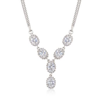 """5.20 ct. t.w. CZ Y-Necklace in Sterling Silver. 18"""", , default"""