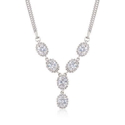 5.20 ct. t.w. CZ Y-Necklace in Sterling Silver, , default