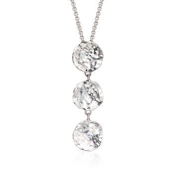 "Zina Sterling Silver ""Sahara"" Triple Petal Pendant Necklace. 17"", , default"