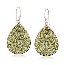 7.00 ct. t.w. Peridot Drop Earrings in Sterling Silver, , default