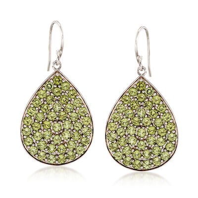 7.00 ct. t.w. Peridot Drop Earrings in Sterling Silver, , default