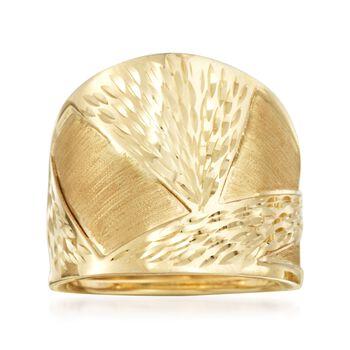 Italian 14kt Yellow Gold Ring, , default