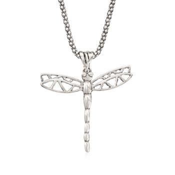 """Sterling Silver Dragonfly Pendant Necklace. 18"""", , default"""