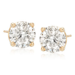 3.00 ct. t.w. Diamond Stud Earrings in 14kt Yellow Gold, , default