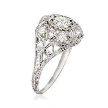C. 1950 Vintage .52 ct. t.w. Diamond Engagement Ring in Platinum. Size 5, , default