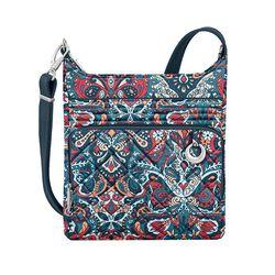 "Travelon ""Anti-Theft Boho"" Paisley Crossbody Bag , , default"