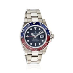 Certified Pre-Owned Rolex Gmt Master Red/Blue Men's 40mm Watch in 18kt White Gold, , default