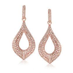 C. 1990 Vintage 5.00 ct. t.w. Diamond Drop Earrings in 18kt Rose Gold, , default