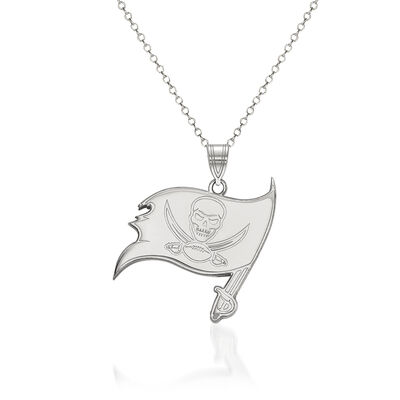 """Sterling Silver NFL Tampa Bay Buccaneers Pendant Necklace. 18"""""""