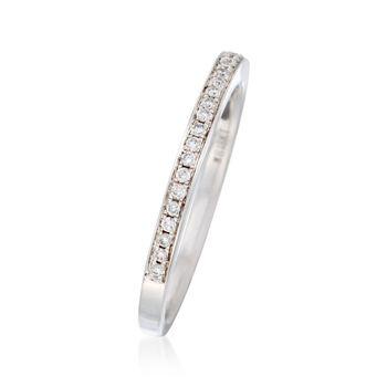 Henri Daussi .25 ct. t.w. Diamond Wedding Ring in 18kt White Gold