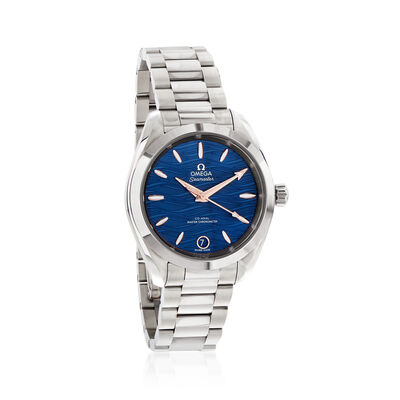 Omega Seamaster Aqua Terra Women's 34mm Automatic Stainless Steel Watch with Blue Dial