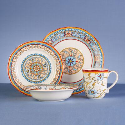 Duomo Stoneware 16-pc. Service for 4 Dinnerware Set, , default