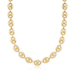 C. 1980 Vintage Fancy-Link Chain in 14kt Yellow Gold, , default