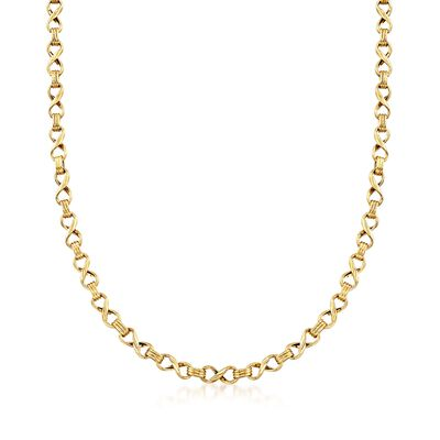 14kt Yellow Gold Infinity-Link Necklace , , default
