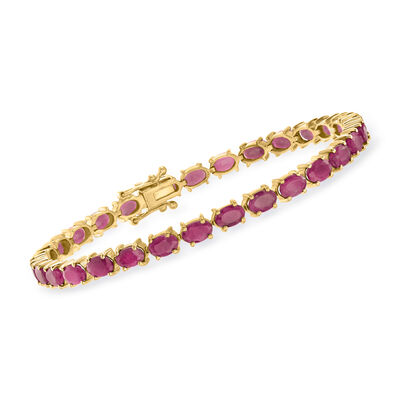 18.00 ct. t.w. Ruby Bracelet in 18kt Gold Over Sterling