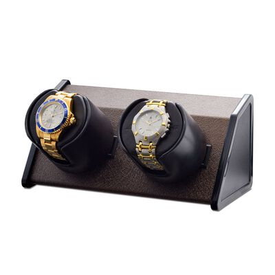 """Sparta"" Brown Double Watch Winder by Orbita, , default"