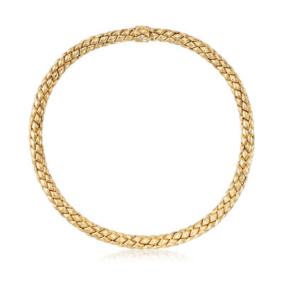 C. 1980 Chimento Mesh Necklace in 18kt Yellow Gold