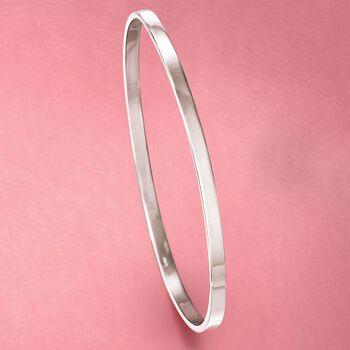 """Italian Sterling Silver Stackable Bangle Bracelet. 7"""", , default"""