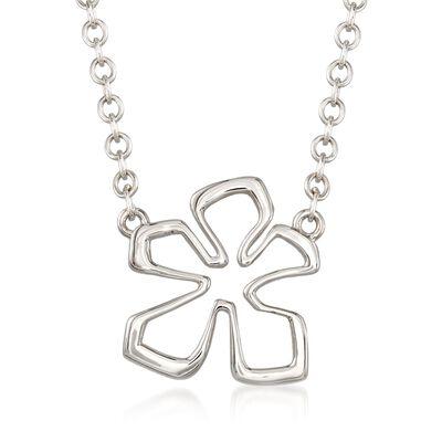 "Zina Sterling Siler Medium ""Tiki"" Flower Necklace, , default"