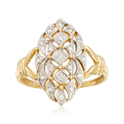 .10 ct. t.w. Diamond Ring in 14kt Yellow Gold, , default