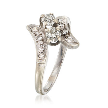 C. 1970 Vintage .52 ct. t.w. Diamond Ring in 14kt White Gold. Size 8, , default