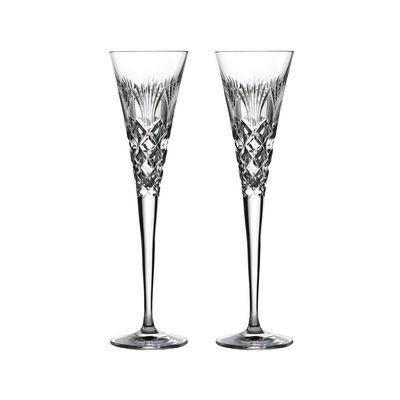 Waterford Crystal 2020 Times Square Set of 2 Toasting Flute Glassware, , default