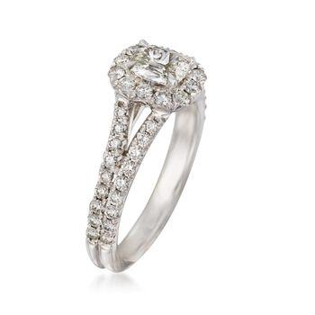 Henri Daussi 1.21 ct. t.w. Diamond Engagement Ring in 14kt White Gold, , default
