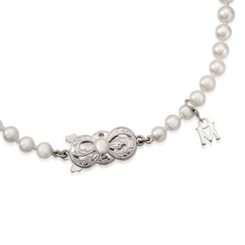 """Mikimoto 7x6.5mm A1 Akoya Pearl Necklace With 18kt White Gold. 16"""", , default"""