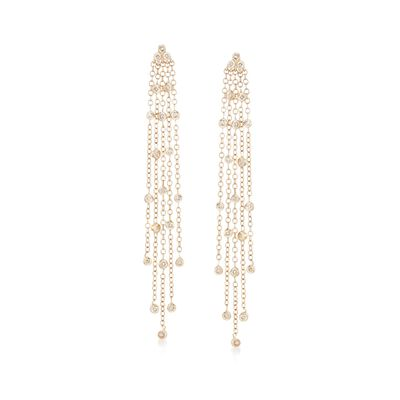 .25 ct. t.w. Diamond Tassel Drop Earrings in 14kt Yellow Gold, , default