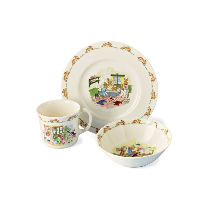 "3-pc. Dinnerware ""Bunnykins"" Child's Dining Set by Royal Doulton, , default"